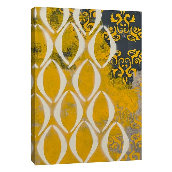 """PTM Images 9-108926 PTM Canvas Collection 10"""" x 8"""" - """"Yellow Pintura 1"""" Giclee Abstract Art Print on Canvas"""