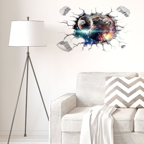 Artificial Removable 3D Wall Stickers Art Decals Self-sticky for Home - Colorful