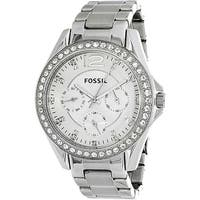 Fossil Women's Riley  Silver Stainless-Steel Analog Quartz Fashion Watch