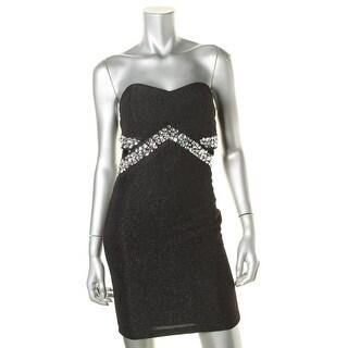 Trixxi Womens Cutout Embellished Party Dress