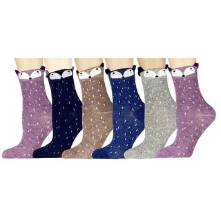 Women Girl Cartoon Animal Design Lovely Novelty Casual Cotton Socks