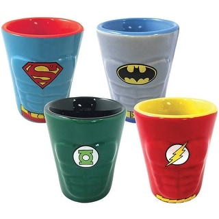 DC Heroes Molded Ceramic Shot Glass 4-Pack