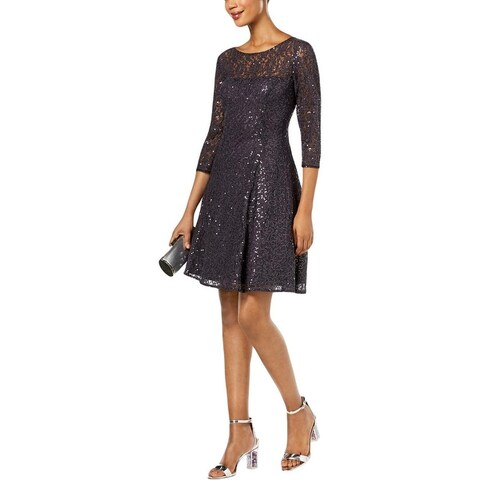 SLNY Womens Party Dress Lace Mini