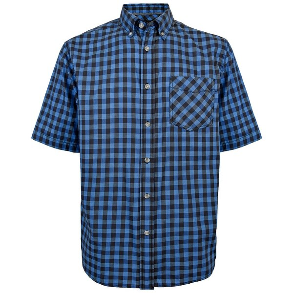Victory Outfitters Mens Patterned Short Sleeve Woven Button Up Shirt
