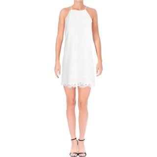 Aqua Womens Slip Dress Lace Knee-Length