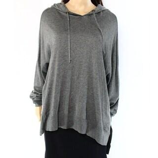 Lauren Ralph Lauren NEW Gray Womens Size Medium M Knit Hooded Sweater