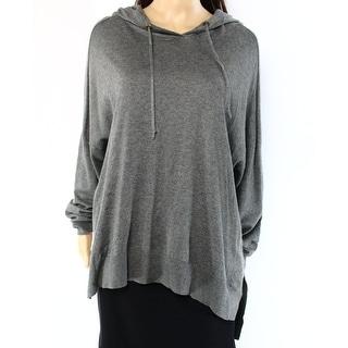 Lauren Ralph Lauren NEW Gray Womens Size XL Knitted Hooded Sweater