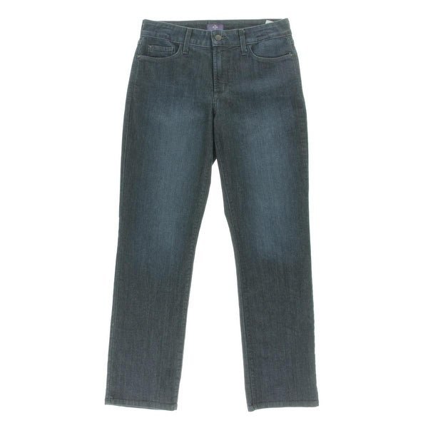 NYDJ Womens Straight Leg Jeans Lift-Tuck Technology Mid -Rise