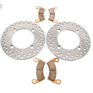 Brake Rotors and Brake Pads fits Polaris RZR S4 900 2018 Front by Race-Driven