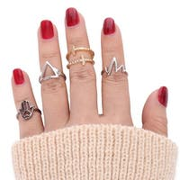Mad Style Hand Fingertip Ring Set - Multi Color