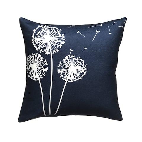 """Dandelion Indoor Outdoor Decorative Pillow - Navy (20"""" x 20"""")"""