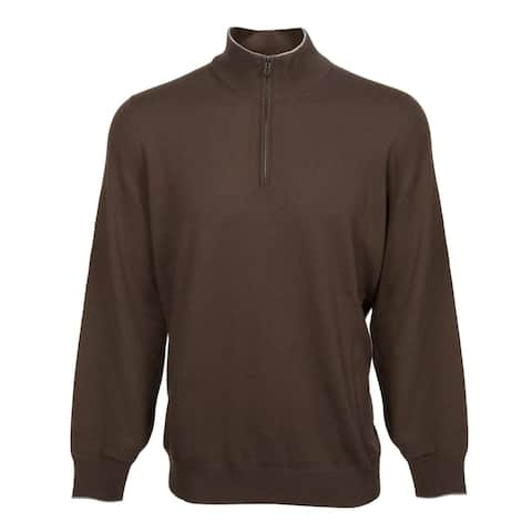 Lupetto Zip Cashmere Sweater in Brown - 58