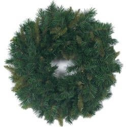 - Mixed Pine Wreath 180 Tips; 24""