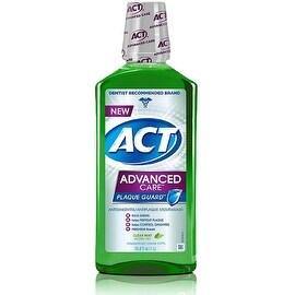 ACT Advanced Care Plaque Guard Mouthwash, Clean Mint 33.80 oz