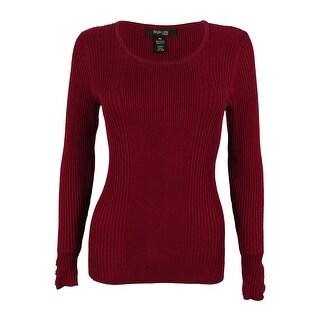 Style & Co. Women's Long Sleeve Scoop Neck Sweater