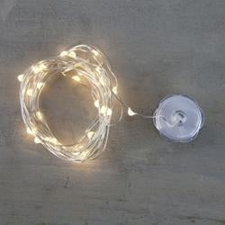 Clear W/White Cord - Prima Marketing Lumies Led Light String 3Yd