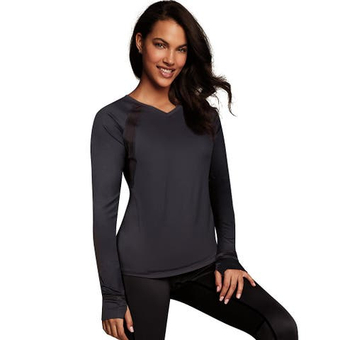 Maidenform Baselayer Active V-Neck Top - Color - Black - Size - S
