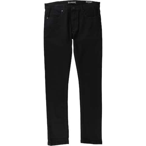 Blank NYC Mens Solid Skinny Fit Jeans, Black, 30W x 31L - 30W x 31L