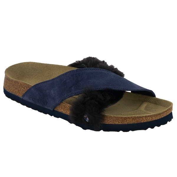 8d67b0692455 Shop Birkenstock Papillio Daytona Suede Leather Fur Sandals - On Sale -  Free Shipping Today - Overstock - 25071491
