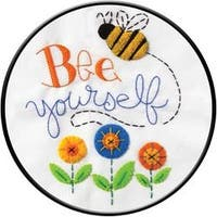 """8"""" Round - Bee Yourself Stamped Embroidery Kit"""