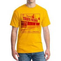 Tower Records West Hollywood Men's Gold T-shirt