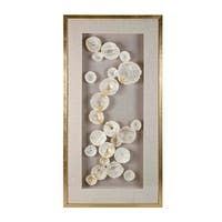 "55.25"" Ivory White and Brown Contemporary Styled Decorative Framed Wall Art - Off-white"