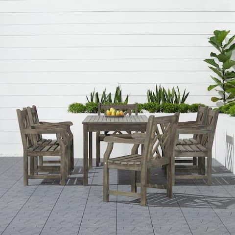 Renaissance 7-piece Table/ Armchair Outdoor Dining Set