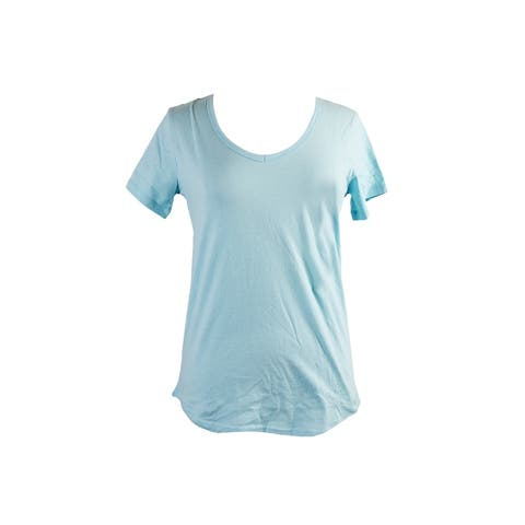 Charter Club Mint Short-Sleeve V-Neck Cotton Pajama T-Shirt S
