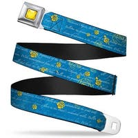 Princess Gem Close Up Full Color Yellow Beauty & The Beast Story Script Seatbelt Belt