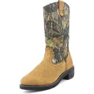 """Western Work 12"""" Boot Men  Round Toe Leather  Hunting Boot"""