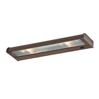 "CSL Lighting NCAX-120-16 16"" 2 Light Xenon Under Cabinet Light Bar from the CounterAttack Collection"