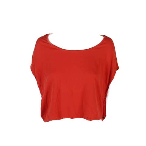 Free People Red Short-Sleeve Never A Dull Moment Tee XS