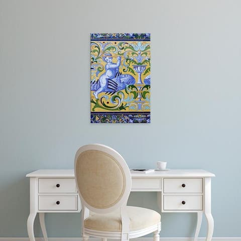 Easy Art Prints Walter Bibikow's 'Tile Details On The Fabrica De Hielo' Premium Canvas Art