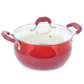 Link to Oster Corbett 5.4 Quart Nonstick Aluminum Dutch Oven in Red Similar Items in Cookware