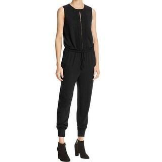Elie Tahari NEW Black Womens Size XS Embroidered Drawstring Jumpsuit