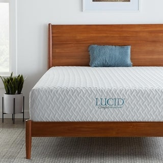 Link to LUCID Comfort Collection 12-inch Plush Gel Memory Foam Mattress Similar Items in Bedroom Furniture