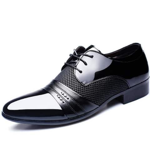 Men Dress Shoes Business Flat Shoes Black Brown Breathable Low Top Men Formal Office Shoes