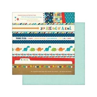 Echo Park Little Man Paper 12x12 Border Strips
