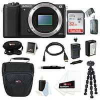 Sony Alpha a5100 ILCE5100/B 24MP Mirrorless Interchangeable Lens Digital Camera Body (Black) 32GB Bundle