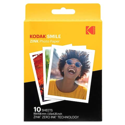 Kodak 3.5x4.25 inch Premium Zink Print Photo Paper (10 Sheets)