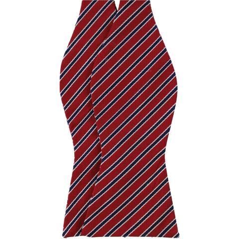 Tommy Hilfiger Mens Stripe Self-Tied Bow Tie - One Size