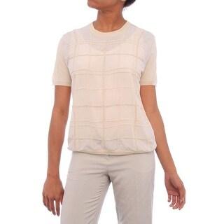 Max Mara Rangon Short Sleeve Crew Neck Blouse Women Regular Blouse