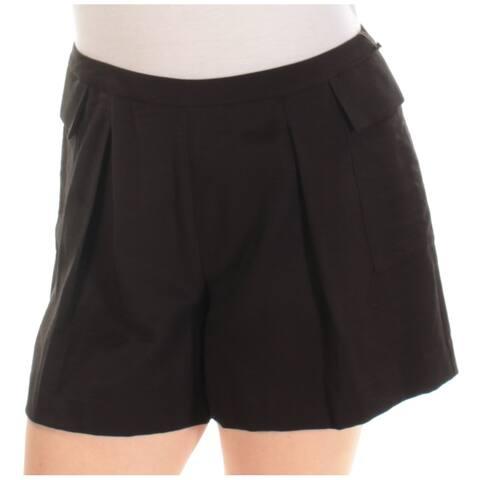 VINCE CAMUTO Womens Black Straight leg Short Size: 6