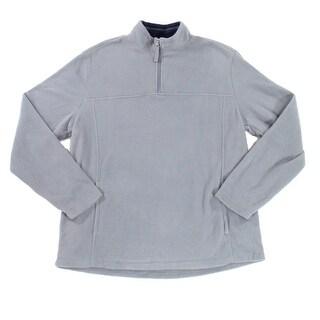 Club Room NEW Gray Steel Mens Size Large L 1/2 Zip Fleece Sweater