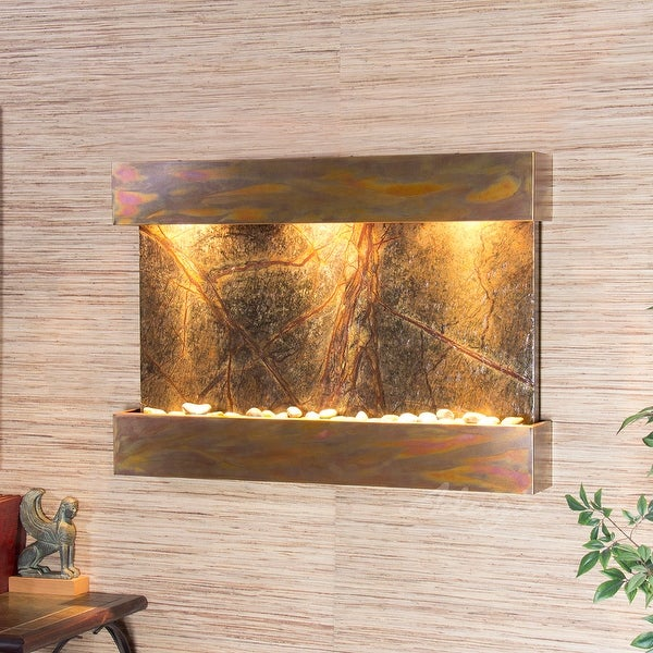 Adagio Reflection Creek Fountain with Rustic Copper Finish - Multiple Colors Available