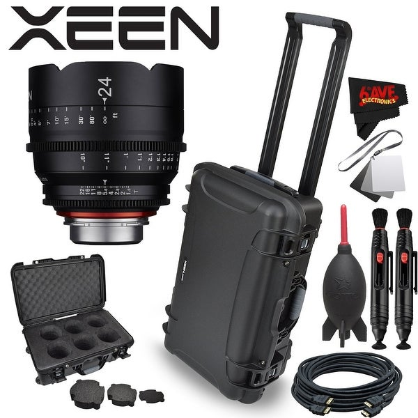 Rokinon Xeen 24mm T1.5 Lens for Canon EF Mount with Rokinon Hardshell Carrying Case - black