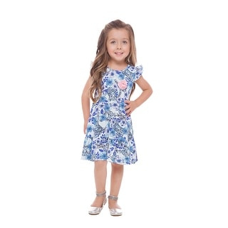 Toddler Girl Floral Sun Dress Little Girl Summer Clothing Pulla Bulla 1-3 Years