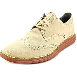 Cole Haan Original Grand Wtip Round Toe Canvas Oxford