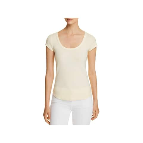Three Dots Womens T-Shirt Cotton Scoop Neck