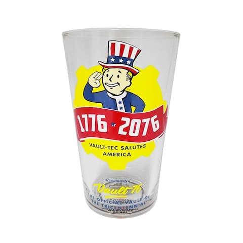 Fallout Vault-Tec Salutes America Pint Glass, 16oz
